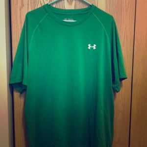 Green Under Armour Loose Heat Gear